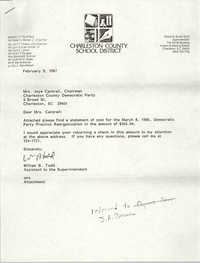 Letter from William B. Todd to Joye Cantrell, February 9, 1987
