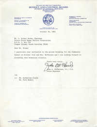 Letter from John A. McPherson, Jr. to J. Arthur Brown, October 26, 1982
