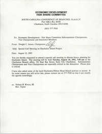 South Carolina Conference of Branches of the NAACP Memorandum, August 12, 1992