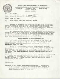 South Carolina Conference of Branches of the NAACP Memorandum, June 15, 1990