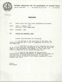 NAACP Memorandum, November 1990