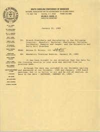 South Carolina Conference of Branches of the NAACP Memorandum, January 20, 1989
