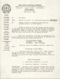South Carolina Conference of Branches of the NAACP Memorandum, February 2, 1989