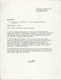 Charleston Branch of the NAACP Memorandum, January 13, 1989