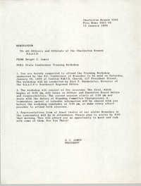 Charleston Branch of the NAACP Memorandum, January 13, 1989