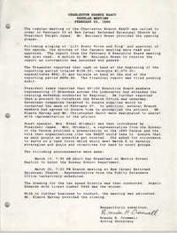 Charleston Branch of the NAACP Memorandum, February 23, 1989