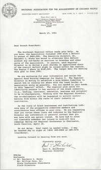 Charleston Branch of the NAACP Memorandum, March 19, 1981