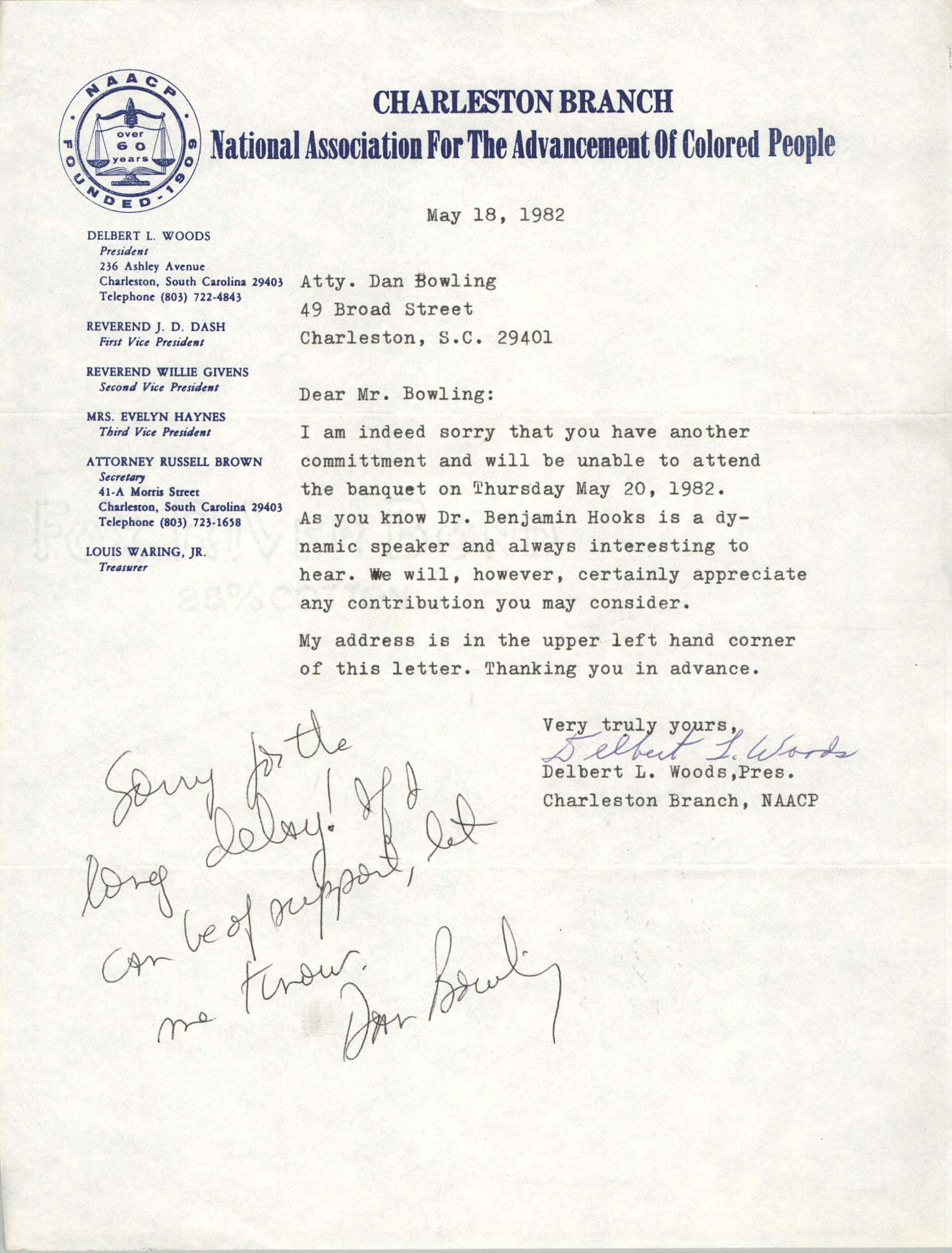 NAACP Memorandum, May 18, 1982