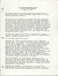 Minutes, Charleston Branch of the NAACP Executive Board Meeting, March 7, 1989