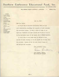 Letter from Anne Braden to J. Arthur Brown, May 31, 1962