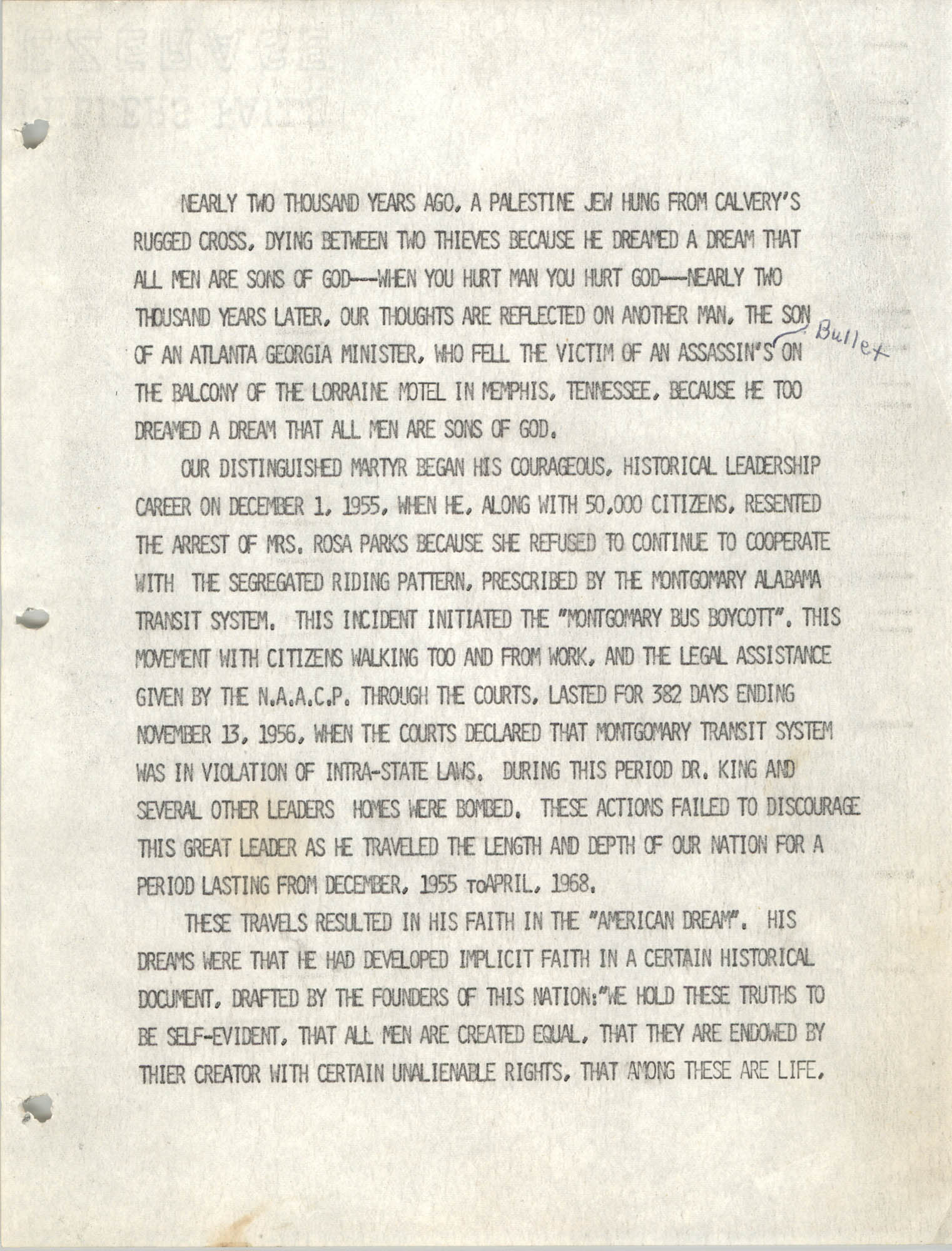 Speech Written and Delivered by J. Arthur Brown, 1979