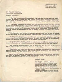 Letter from Septima P. Clark to John Bolt Culbertson, June 6, 1956