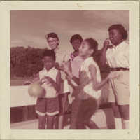 Photograph of Maede Joenelle Brown, Linda Kershaw, Millicent Brown, Barbara Bryant, and Mamie Bryant