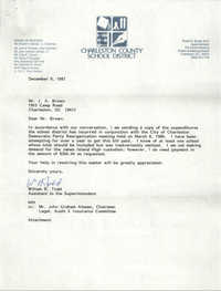 Letter from William B. Todd to J. Arthur Brown, December 9, 1987