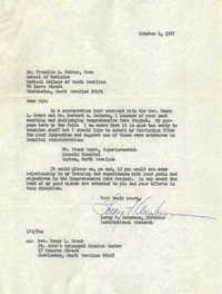 Letter from Leroy F. Anderson to Franklin C. Fetter, October 4, 1967