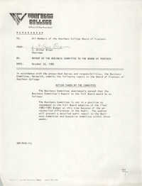 Voorhees College Memorandum, October 22, 1982
