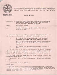 NAACP Memorandum, March 18, 1991