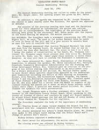 Minutes, Charleston Branch of the NAACP General Membership Meeting, June 28, 1991