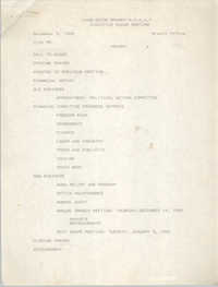 Agenda, Charleston Branch of the NAACP, Executive Board Meeting, December 5, 1989