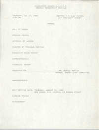 Agenda, Charleston Branch of the NAACP, General Membership Meeting, July 27, 1989