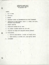 Agenda, Charleston Branch of the NAACP, September 24, 1987