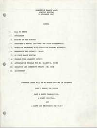 Agenda, Charleston Branch of the NAACP, November 19, 1987