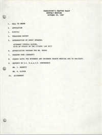 Agenda, Charleston Branch of the NAACP, October 29, 1987