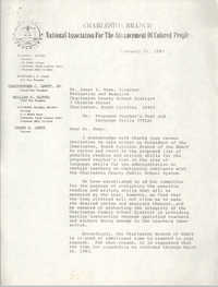 Letter from Delbert L. Woods to Janet S. Rose, February 21, 1983