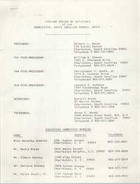 1985-86 Roster of Officials of the Charleston, South Carolina Branch of the NAACP