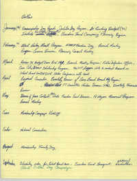 1990 General Membership Meeting Schedule Outline, Charleston Branch of the NAACP