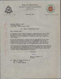 Letter from Harold M. Raynor, Jr., to David S. Spell