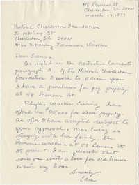 Letter from Edna (O'Hear) to Frances (Edmunds)