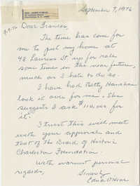 Letter from Edna O'Hear to Frances Edmunds