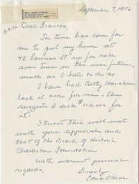 Letter from Edna O'Hear to Frances Edmunds