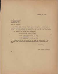 Letter from Alicia W. Rudolf to Robert Schmidt