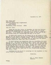 Letter from Mrs. S. Henry Edmunds to Glenn Cole