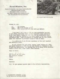 Letter from W. T. Goodwin to