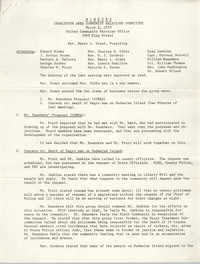 Minutes, Charleston Area Community Relations Committee, March 2, 1970