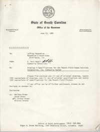 State of South Carolina, Office of the Governor, Memorandum, June 23, 1982