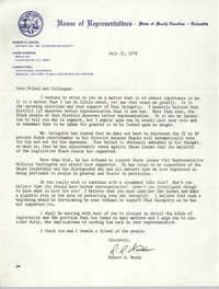 Letter from Robert R. Woods, July 20, 1978