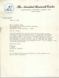 Letter from Clifton H. Johnson to J. Arthur Brown, June 22, 1978
