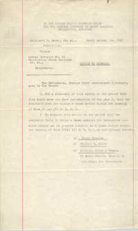 Civil Action No. 7747, Charleston Division, Millicent F. Brown vs. School District No. 20