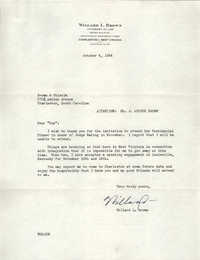 Letter from Willard L. Brown to Brown and Chisolm, October 4, 1954