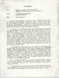 Memorandum from J. Arthur Brown to Joseph D. Patton, December 29, 1986
