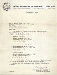 NAACP Memorandum, November 27, 1961