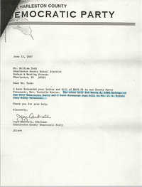Letter from Joye Cantrell to William B. Todd, June 15, 1987