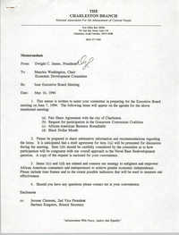 Charleston Branch of the NAACP Memorandum, May 16, 1994