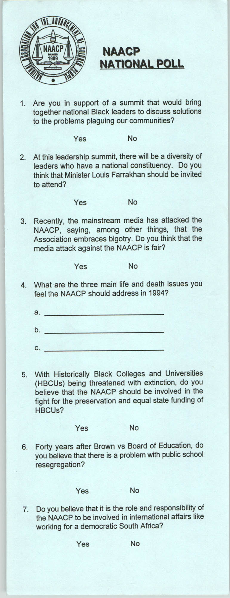 NAACP National Poll
