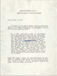 Charleston Branch of the NAACP Memorandum, November 21, 1989
