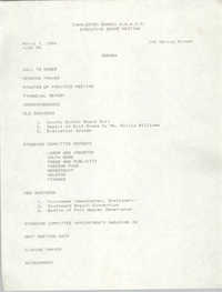 Agenda, Charleston Branch of the NAACP, March 7, 1989